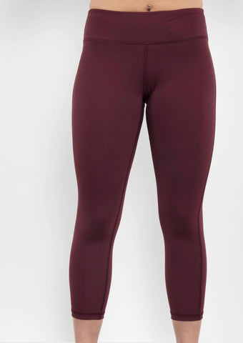 Burgundy Sculpt Crop Legging - Haven Collective