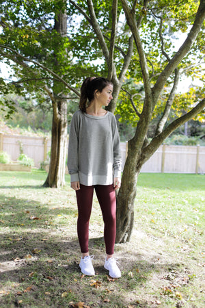 Heather Grey Weekender Sweatshirt - Haven Collective