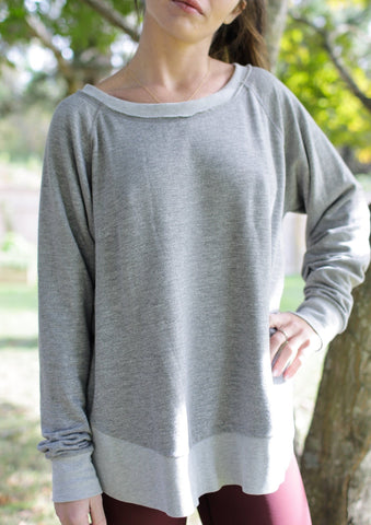 Heather Grey Weekender Sweatshirt