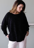 Cloud Kissed Black Weekender Sweatshirt - Haven Collective
