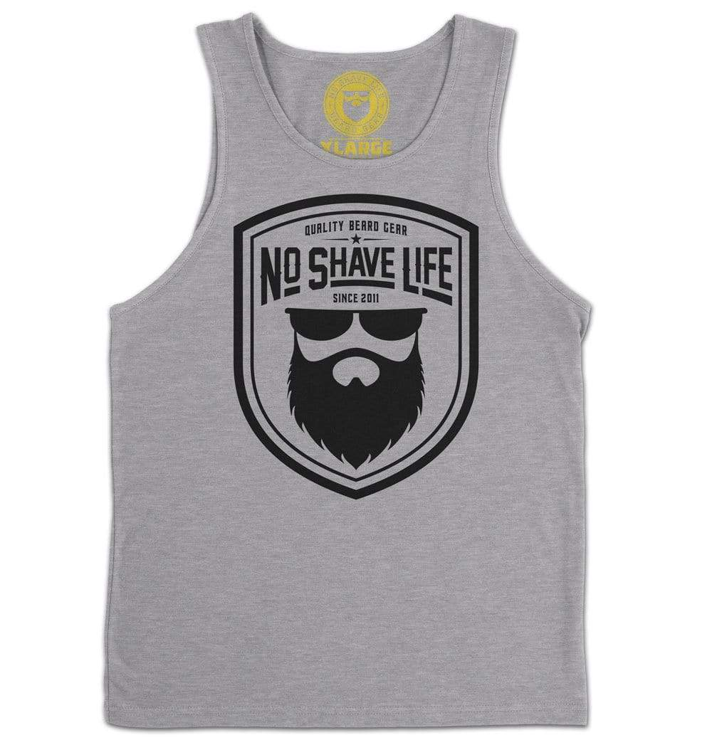 Beard Gear Shield Heather Grey Men's Tank Top
