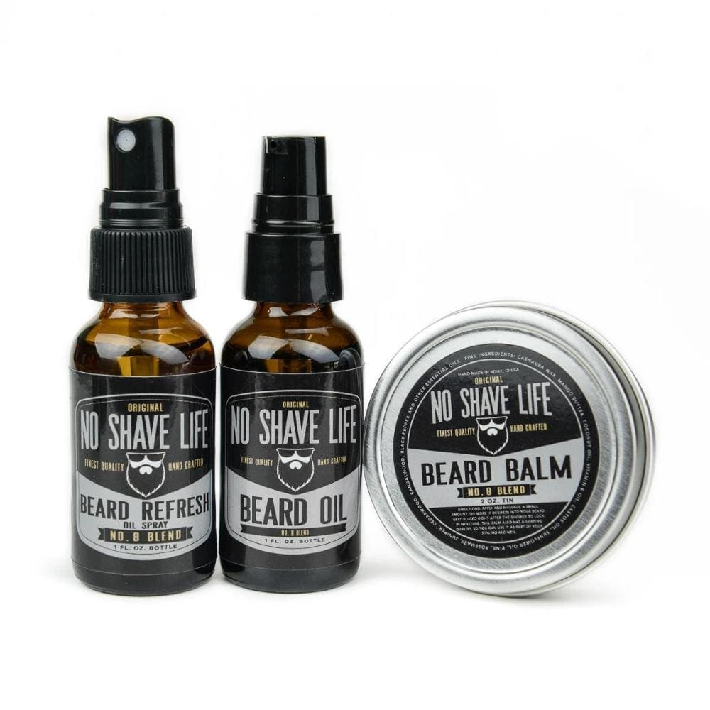 No. 8 Blend Beard Oil / Balm / Refresher Combo