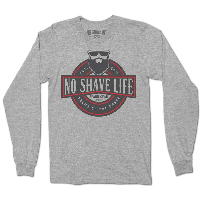 Enemy of the Shave 17 Heather Grey Long Sleeve TShirt