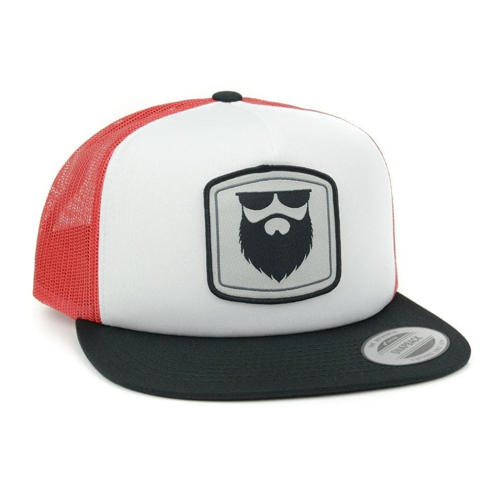 Beard Gear Foam/Mesh Trucker Snapback - Black/Red/White