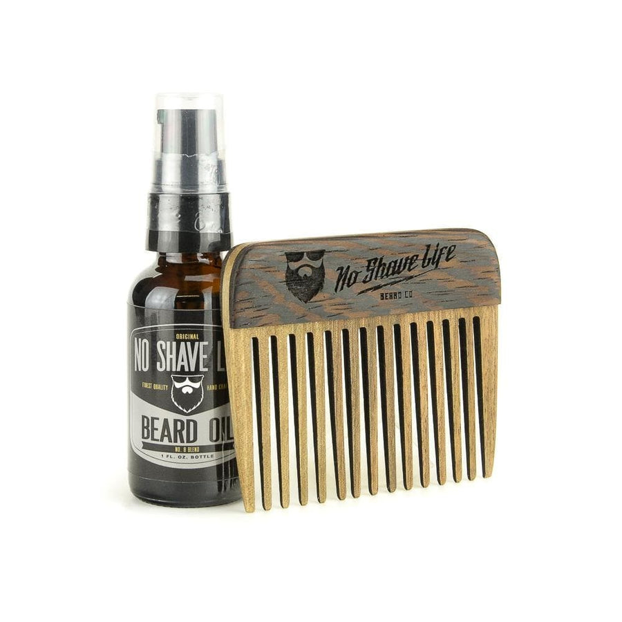 No. 8 Blend Beard Oil / Walnut 2Tone Comb Combo