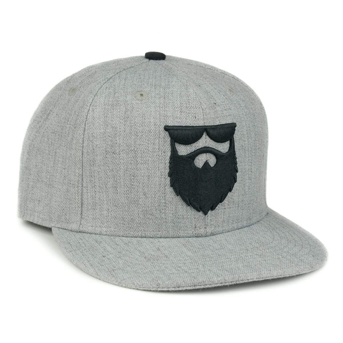 no shave life og beard logo hat no shave life llc og beard logo snapback heather grey