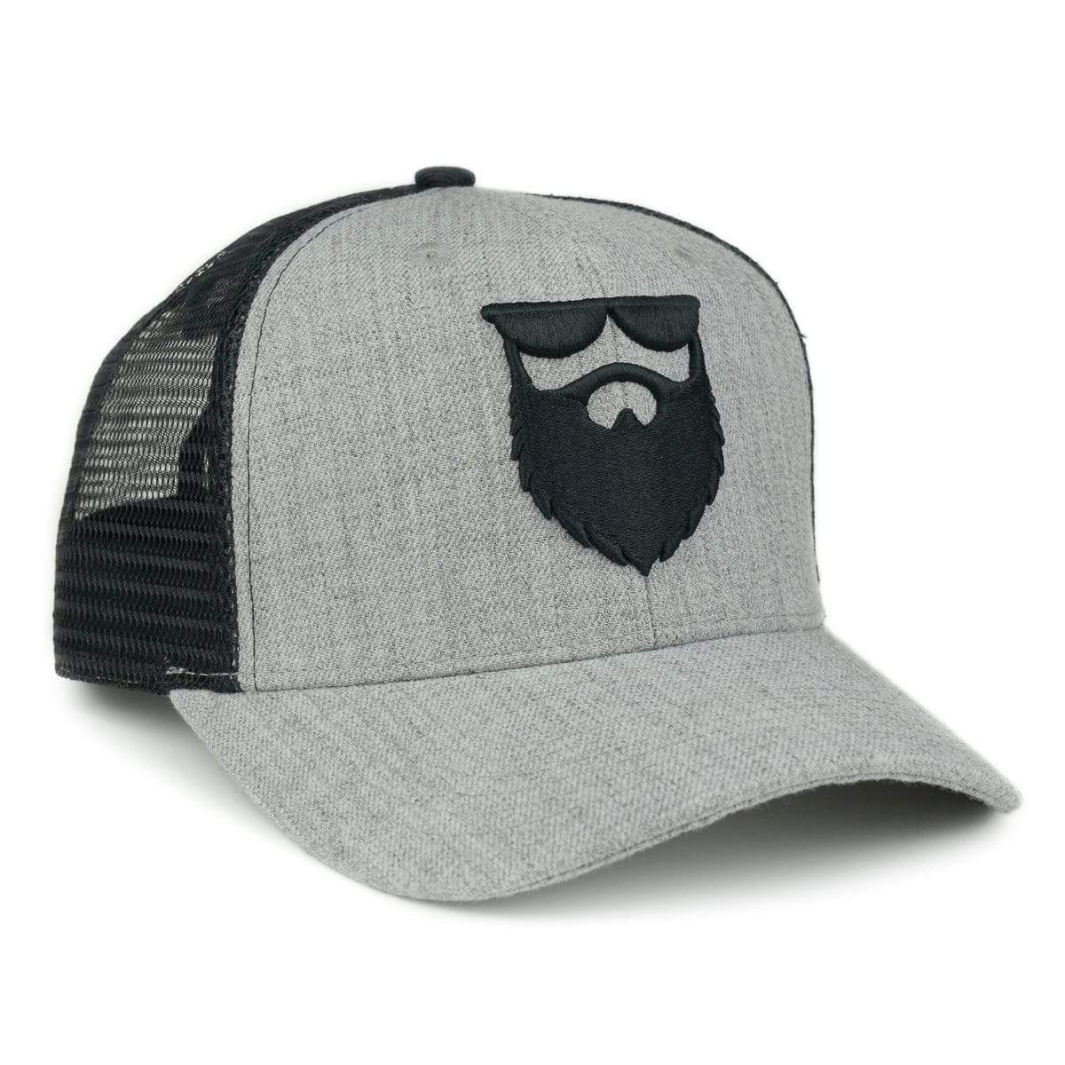 OG Beard Logo Mesh Trucker - Heather Grey/Black