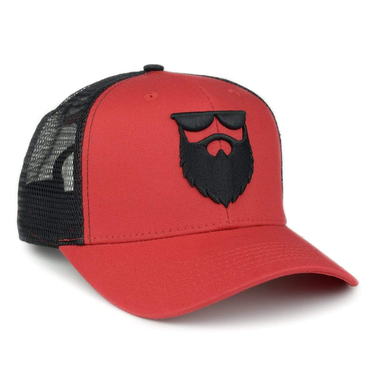 OG Beard Logo Mesh Trucker - Red/Black