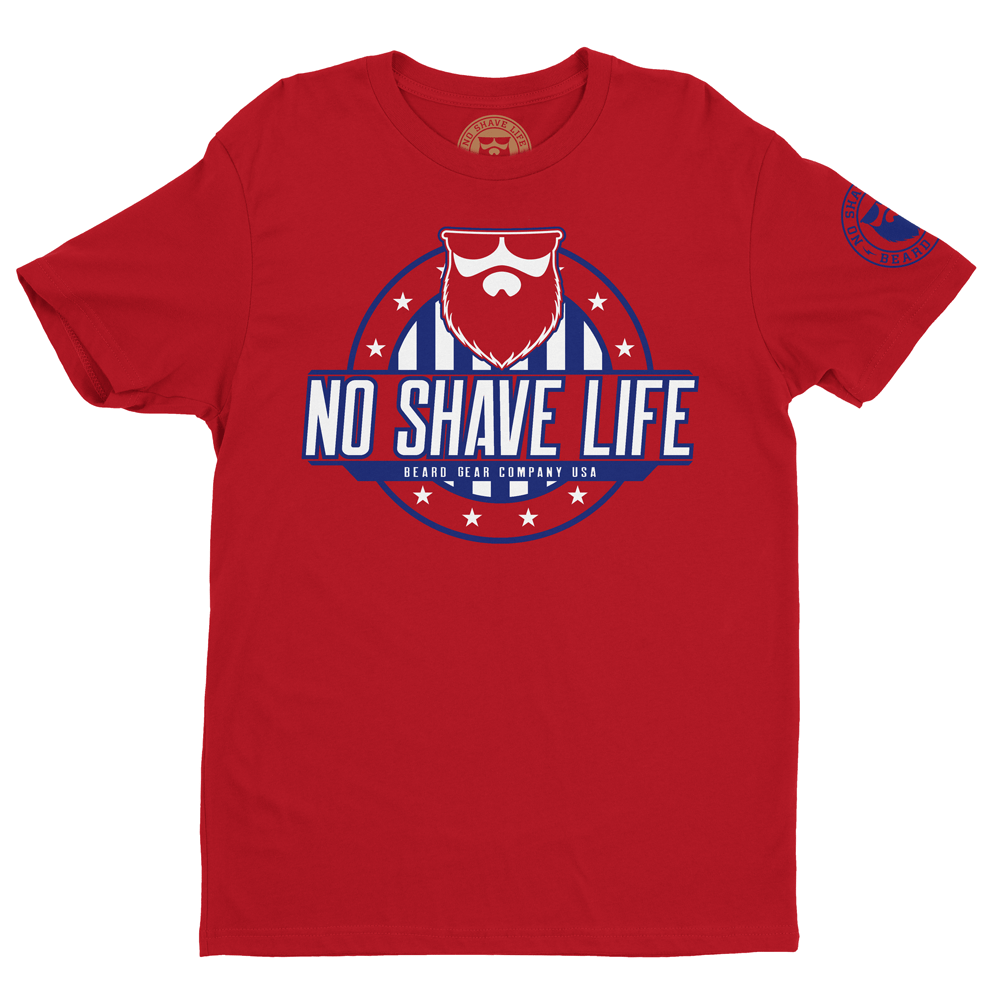 BEARD NATION LIMITED USA Red Men's TShirt