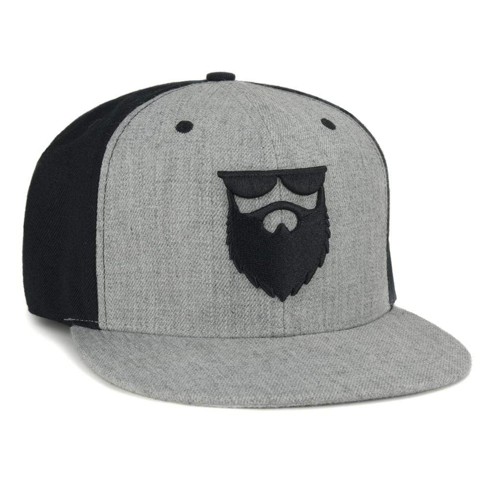 OG Beard Logo Snapback - Heather Grey/Black