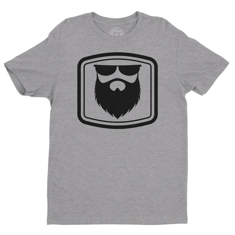 THE OG BEARD 2.0 Heather Grey/Black Men's TShirt