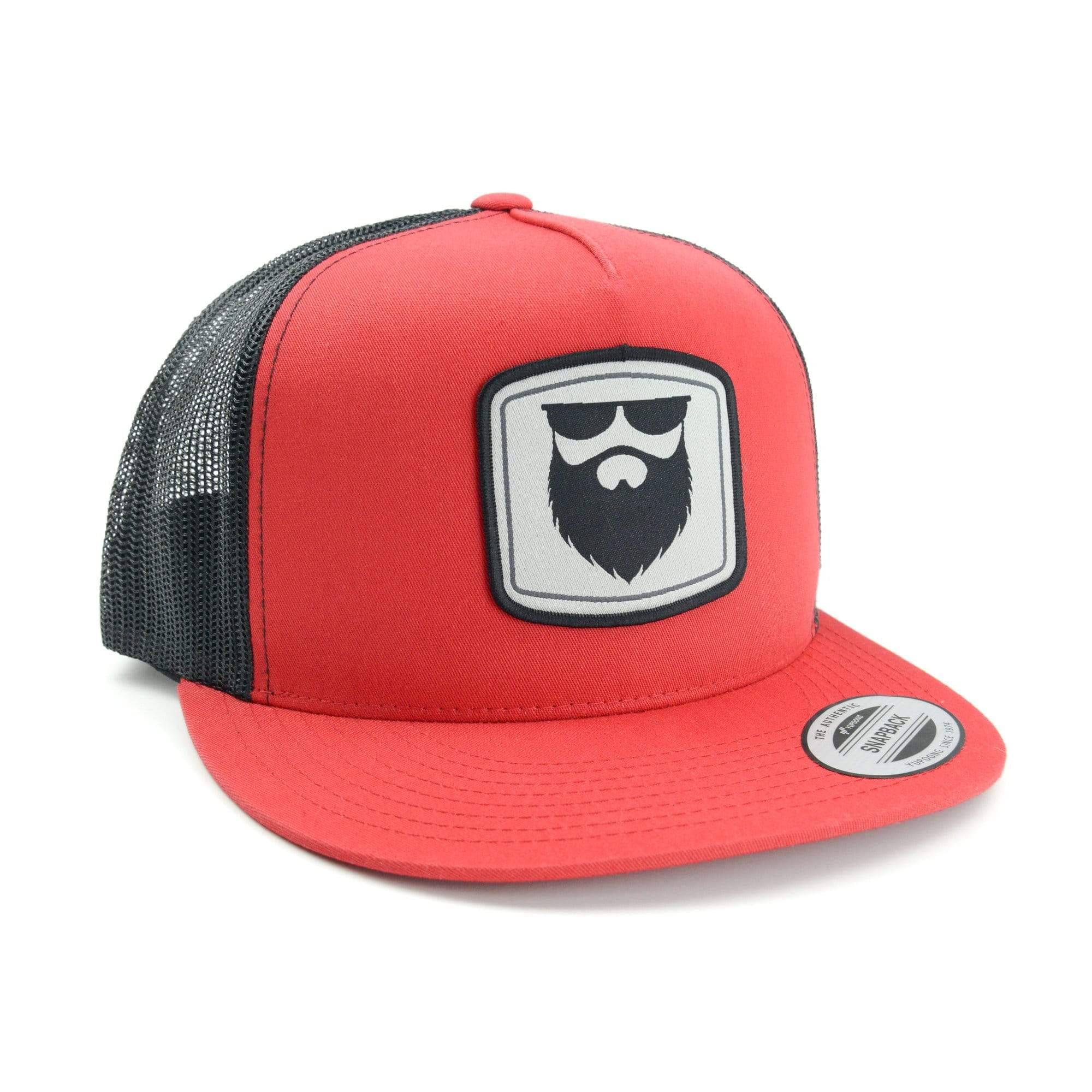 Beard Gear Mesh Trucker Snapback - Red/Black
