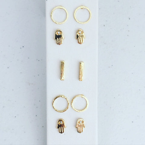 Dainty Gold Plated Studs