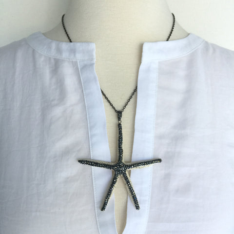 Pave' Starfish Necklace
