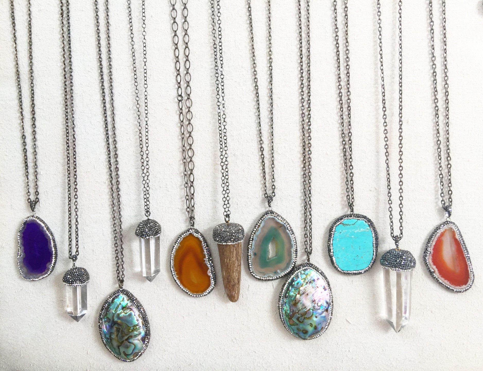 Long Pave' Necklaces
