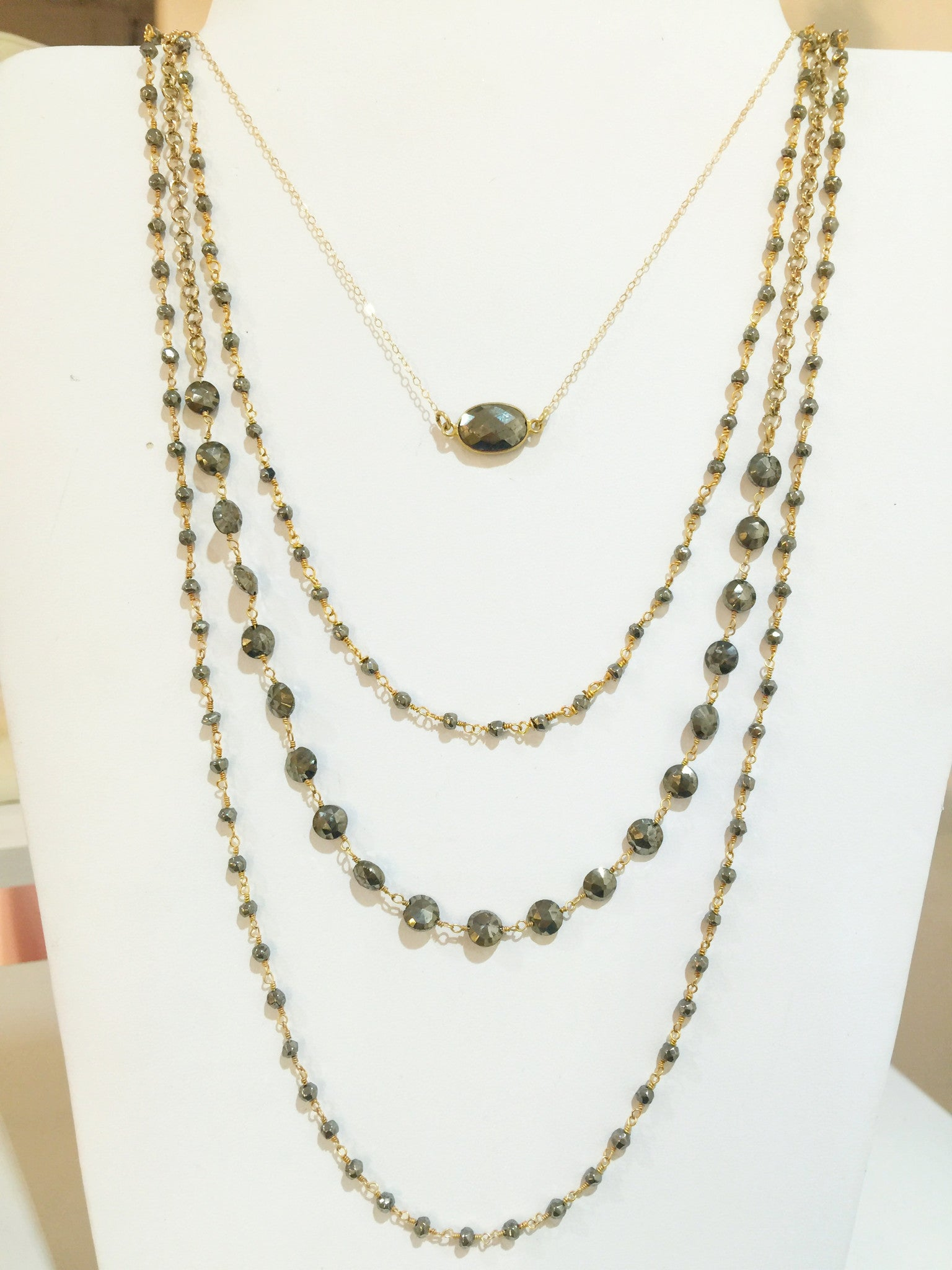 Pyrite Layering Necklaces