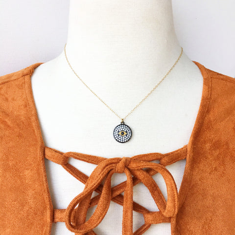 Pavé Evil Eye Necklace