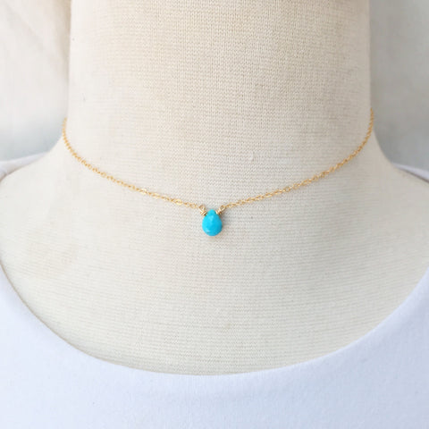 Turquoise Briolette Choker