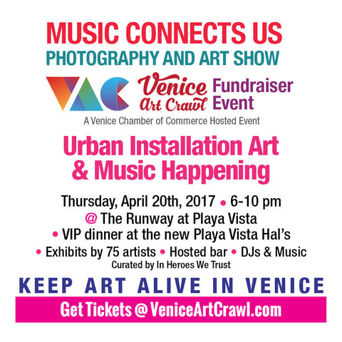 In Heroes We Trust x Venice Art Crawl x Hal's 'Music Connects Us' Show