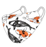 Jeremy Novy Custom Koi Print Cotton Mask