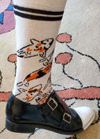 Jeremy Novy Custom Koi 100% Cotton Woven Socks