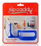 SipCaddy® Blue - Shower Beer / Bath / Shower Wine Caddy