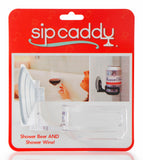 SipCaddy® Clear - Shower Beer / Bath / Shower Wine Caddy