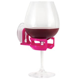 SipCaddy® Pink - Shower Beer / Bath / Shower Wine Caddy
