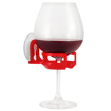 SipCaddy® Red - Shower Beer / Bath / Shower Wine Caddy