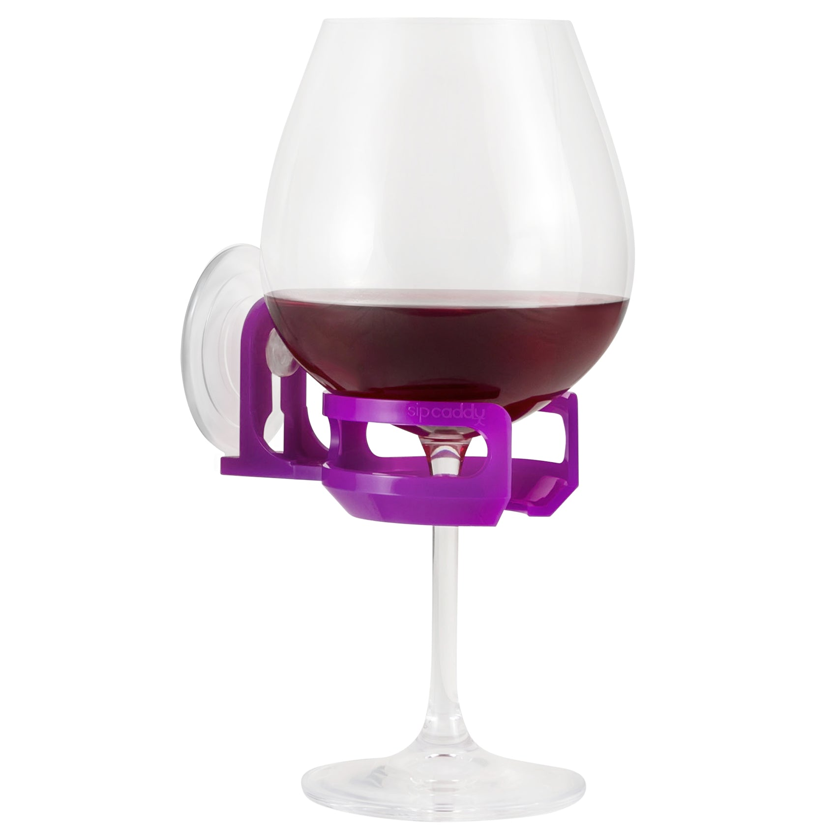 SipCaddy® Purple - Shower Beer / Bath / Shower Wine Caddy