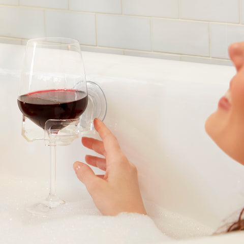 SipCaddy® SHOWER BEER & BATH WINE Holder - Clear