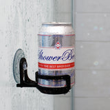 SipCaddy® Black - Shower Beer / Bath / Shower Wine Caddy