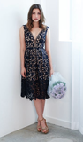 Oriana Dress Navy