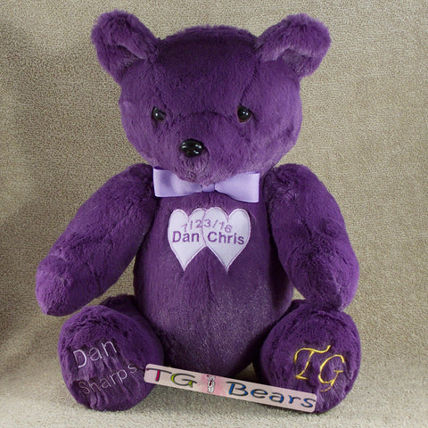 Memory bear all in purple