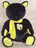 A Black and Yellow teddy bear