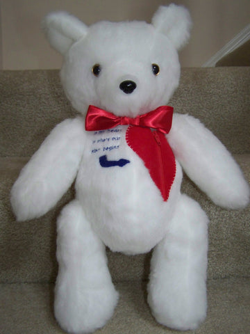 Proposal Bear is a custom handmade teddy bear