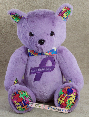 Aaron | Handmade teddy bear representing Epilepsy and Autism