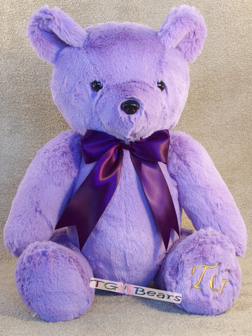 Chloe Bear - beautiful lilac and plum coloring