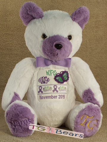E-Bear 2015 - handmade teddy bear to raise Epilepsy Awareness