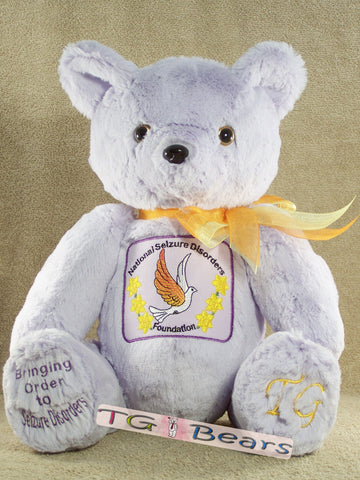 Jesy Bear, mascot for National Seizure Disorders Foundation