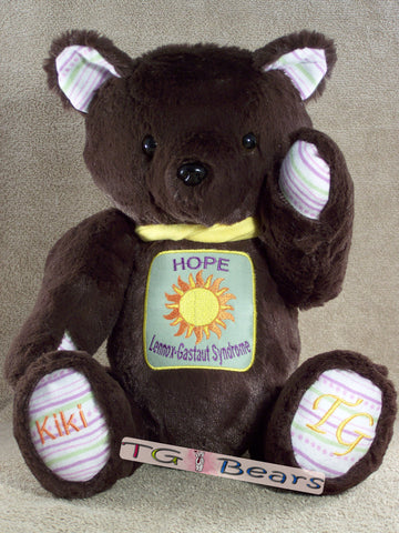 Kierra Bear raising awareness for Lennox-Gastaut Syndrome