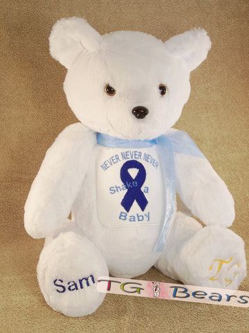 Lizzie Bear supports Hope for Shaken Baby Syndrome, Inc