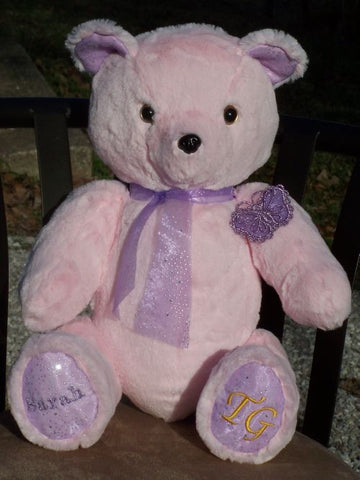 Lolita Bear is a girly teddy bear that can be personalized