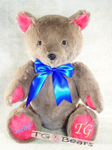 Molly Bear is a customizable handmade teddy bear