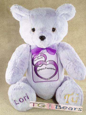 Murrah Bear supports The Hearts of Epilepsy Foundation