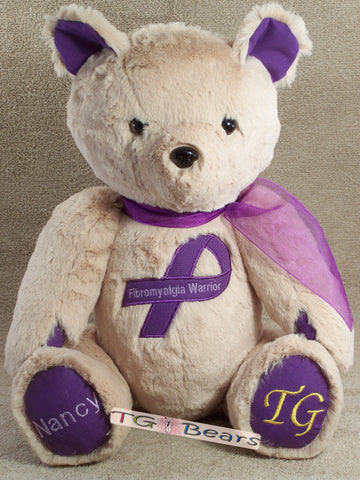 Nancy | Handmade teddy bear for Fibromyalgia Warriors