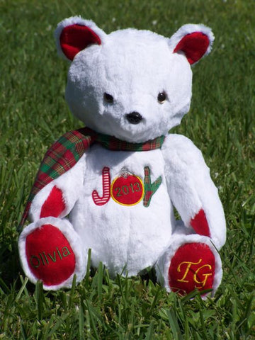 Christmas handmade teddy bear designed in 2013