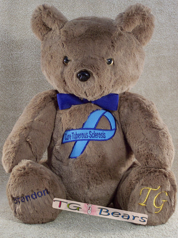 Santiago Bear supports the Tuberous Sclerosis Alliance