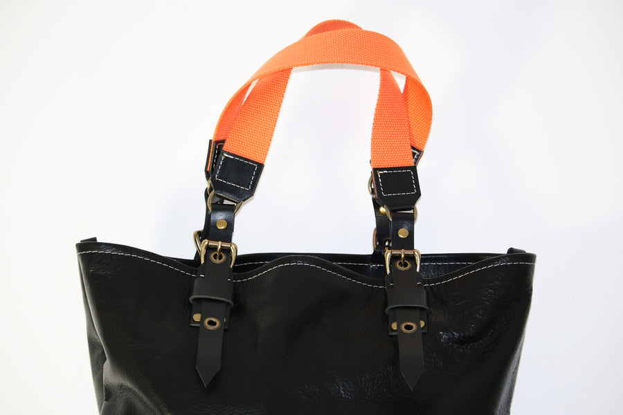 SOFT LEATHER TOTE BAG #010071