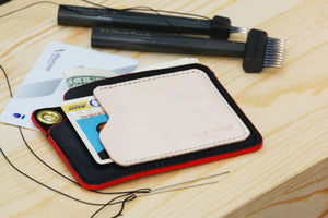 Card holder - Horween leather - 010123